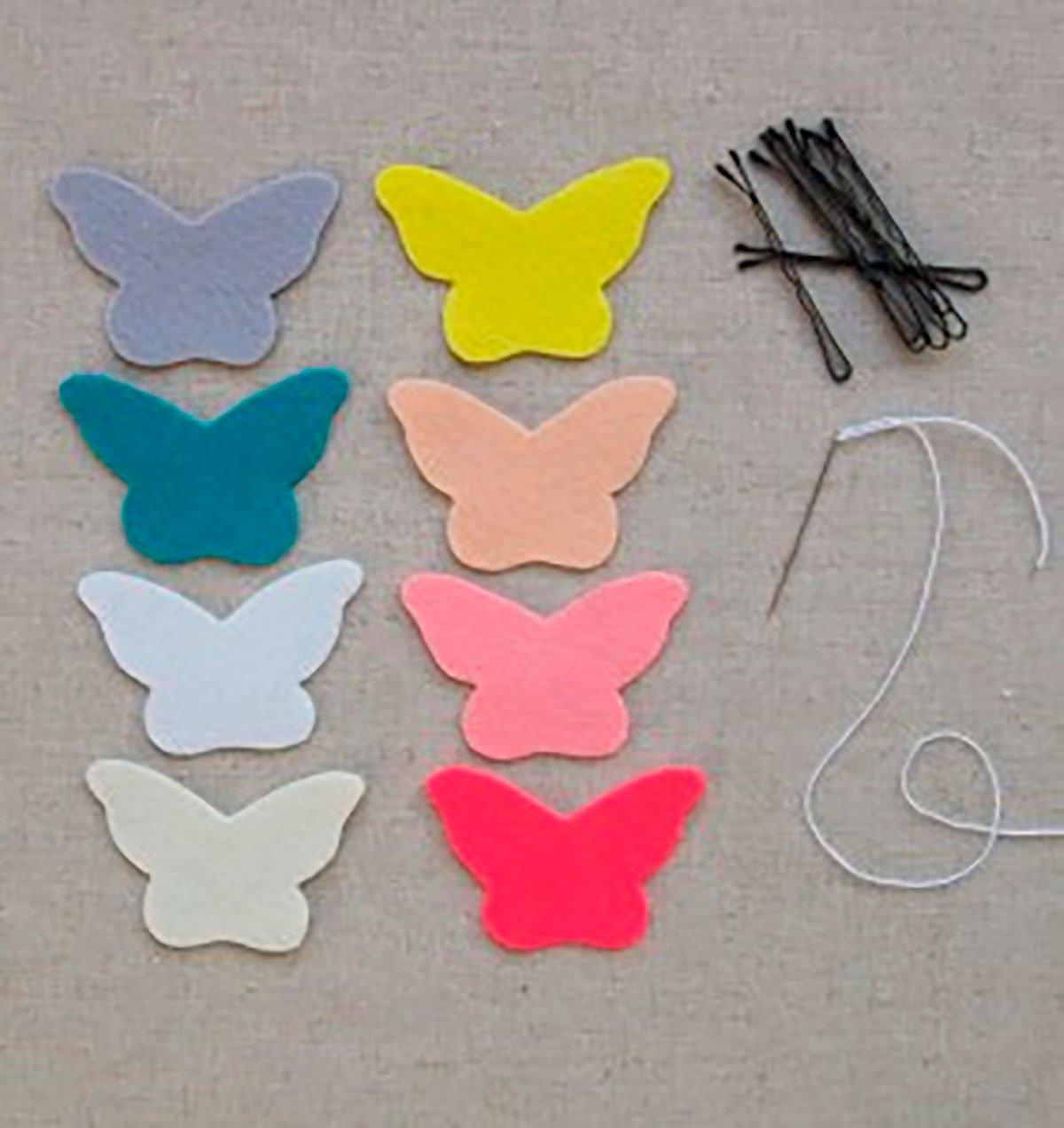 Бабочка из фетра выкройки своими руками 73